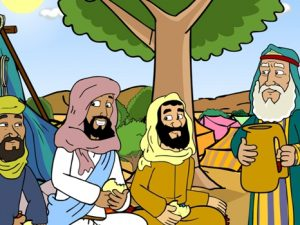 Abraham and the three strangers, 25 Bible images for kindergarten, kindergarten expert