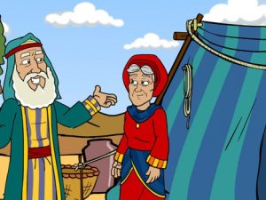 Abram (Abraham) moves to Canaan, 14 Bible images for kindergarten, kindergarten expert
