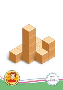 Buiding card 1, difficulty 4 for block area, for kindergarten and preschool, kindergarten.expert