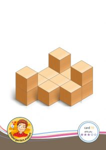 Buiding card 10, difficulty 3 for block area, for kindergarten and preschool, kindergarten.expert