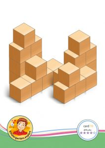 Buiding card 10, difficulty 4 for block area, for kindergarten and preschool, kindergarten.expert