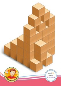 Buiding card 10, difficulty 5 for block area, for kindergarten and preschool, kindergarten.expert