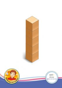 Buiding card 2, difficulty 1 for block area, for kindergarten and preschool, kindergarten.expert