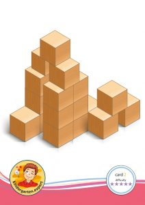Buiding card 2, difficulty 5 for block area, for kindergarten and preschool, kindergarten.expert