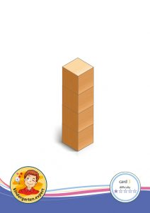 Buiding card 3, difficulty 1 for block area, for kindergarten and preschool, kindergarten.expert
