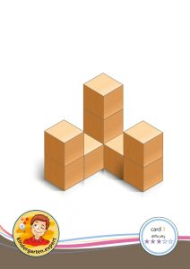 Buiding card 3, difficulty 3 for block area, for kindergarten and preschool, kindergarten.expert