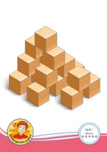 Buiding card 3, difficulty 5 for block area, for kindergarten and preschool, kindergarten.expert