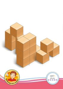 Buiding card 4, difficulty 5 for block area, for kindergarten and preschool, kindergarten.expert