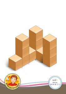 Buiding card 5, difficulty 3 for block area, for kindergarten and preschool, kindergarten.expert