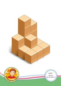 Buiding card 5, difficulty 4 for block area, for kindergarten and preschool, kindergarten.expert
