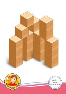 Buiding card 5, difficulty 5 for block area, for kindergarten and preschool, kindergarten.expert