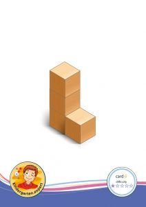 Buiding card 6, difficulty 1 for block area, for kindergarten and preschool, kindergarten.expert
