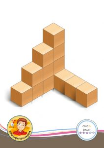 Buiding card 6, difficulty 3 for block area, for kindergarten and preschool, kindergarten.expert