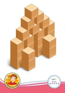 Buiding card 6, difficulty 5 for block area, for kindergarten and preschool, kindergarten.expert