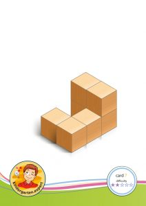 Buiding card 7, difficulty 2 for block area, for kindergarten and preschool, kindergarten expert