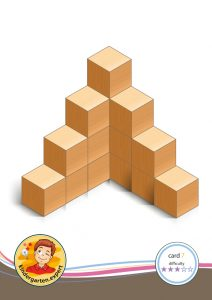 Buiding card 7, difficulty 3 for block area, for kindergarten and preschool, kindergarten.expert
