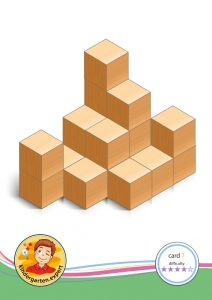Buiding card 7, difficulty 4 for block area, for kindergarten and preschool, kindergarten.expert