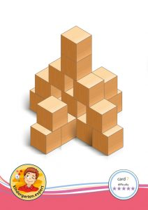 Buiding card 7, difficulty 5 for block area, for kindergarten and preschool, kindergarten.expert
