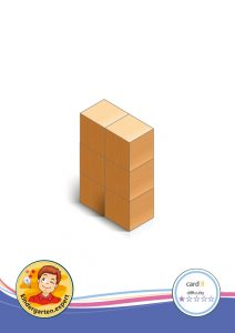 Buiding card 8, difficulty 1 for block area, for kindergarten and preschool, kindergarten.expert