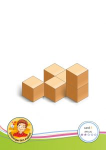 Buiding card 8, difficulty 2 for block area, for kindergarten and preschool, kindergarten expert