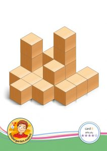 Buiding card 8, difficulty 4 for block area, for kindergarten and preschool, kindergarten.expert