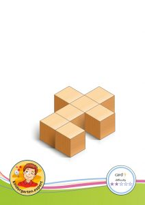 Buiding card 9, difficulty 2 for block area, for kindergarten and preschool, kindergarten expert