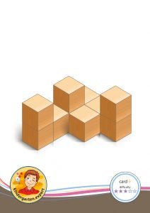 Buiding card 9, difficulty 3 for block area, for kindergarten and preschool, kindergarten.expert
