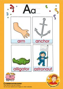 Early Childhood Sight Words, letter a, for kindergarten, kindergarten expert, free printable
