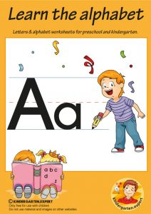 Letters & alphabet worksheets for preschool and kindergarten, letter a, kindergarten expert, free prinatble