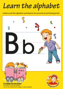Letters & alphabet worksheets for preschool and kindergarten, letter b, kindergarten expert, free prinatble