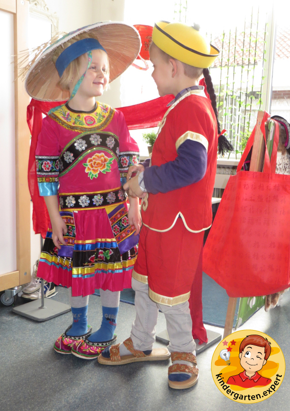 Chinese role play in the theme center 2, China theme, kindergarten.expert