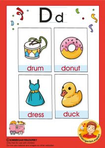 Early Childhood Sight Words, letter D, for kindergarten, kindergarten expert, free printable