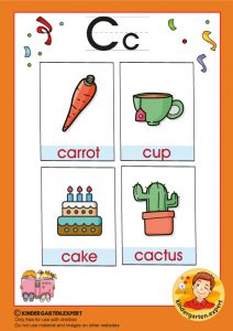Early Childhood Sight Words, letter c, for kindergarten, kindergarten expert, free printable