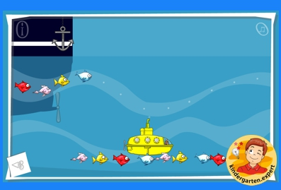 Fish pattern game, kindergarten online game, IWB, kindergarten.expert