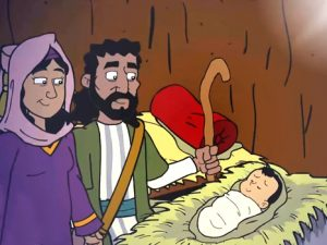 Jesus is born, bible images for kids, kindergarten.expert