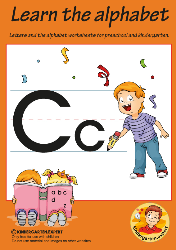 Letters & alphabet worksheets for preschool and kindergarten, letter c, kindergarten expert, free printable