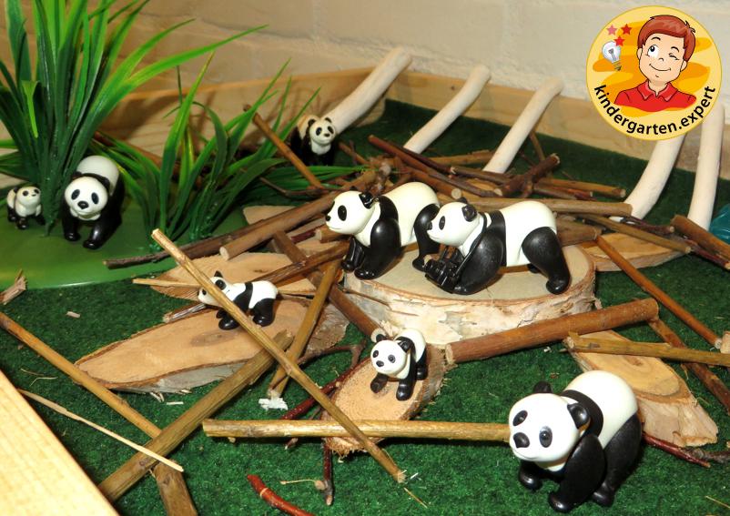 Panda nanny 3, theme table, China theme, kindergarten.expert