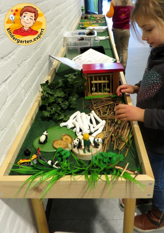Panda nanny 4, theme table, China theme, kindergarten expert