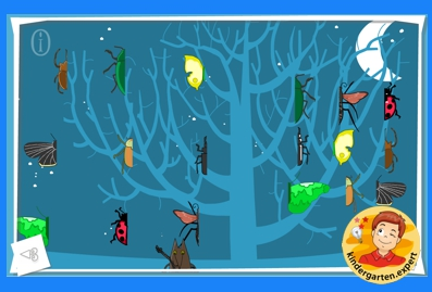 Symmetry images, kindergarten online game, kindergarten.expert k