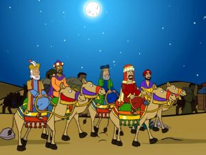 Wise men visit Jesus, bible images for kids, kindergarten.expert