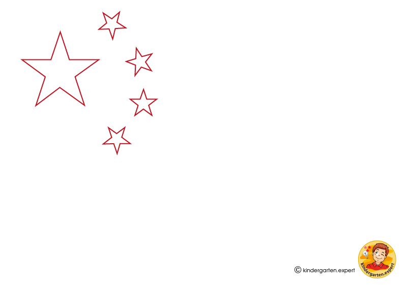 image about Chinese Flag Printable referred to as China KINDERGARTEN.Specialist