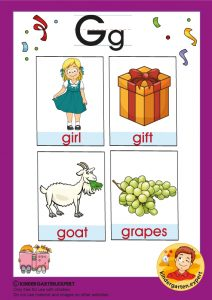 Early Childhood Sight Words, letter G, for kindergarten, kindergarten expert, free printable