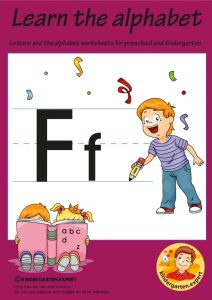 Letters & alphabet worksheets for preschool and kindergarten, letter F, kindergarten expert, free printable