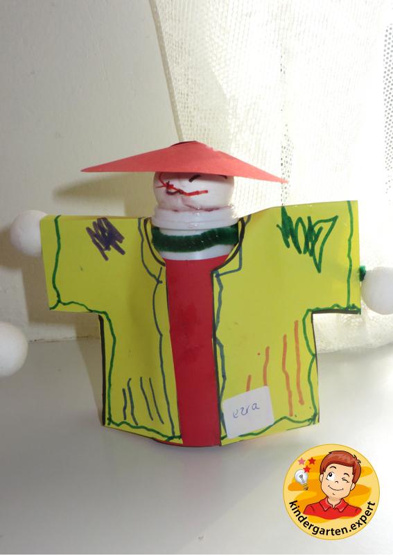 Making Chinese people 1b, China theme, kindergarten.expert