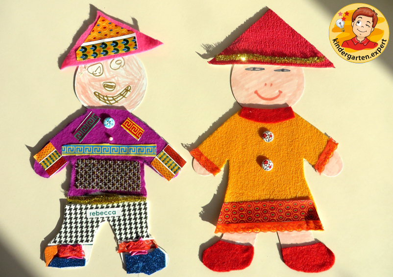 Making Chinese people 2a, China theme, kindergarten.expert