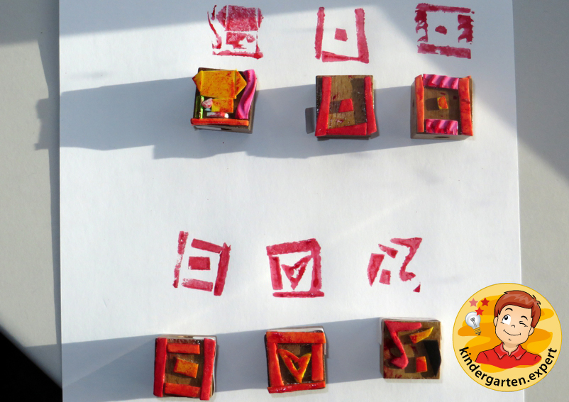 Making a Chinese seal stamp 2, China theme, kindergarten.expert