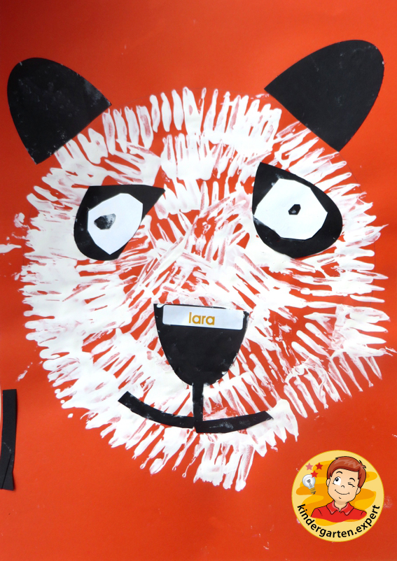 Making a panda bear 2, China theme, kindergarten.expert
