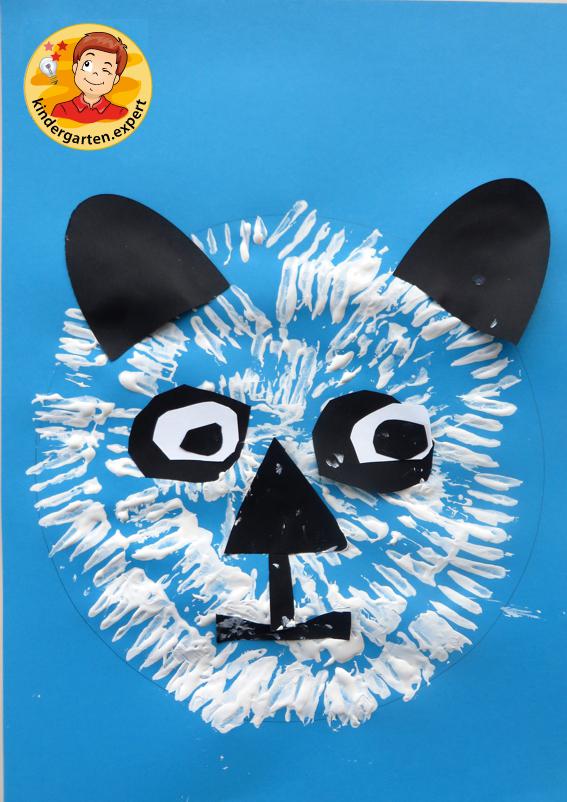 Making a panda bear, China theme, kindergarten.expert