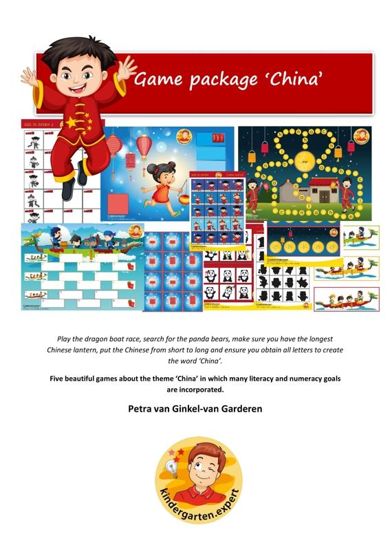 Five gmes for Kindergarten, China thema, Kindergarten.expert