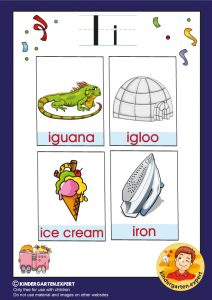 Early Childhood Sight Words, letter I, for kindergarten, kindergarten expert, free printable